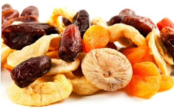 Treated with dried fruits.